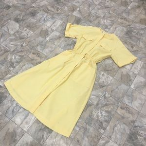 VINTAGE KAY BRANDON yellow dress